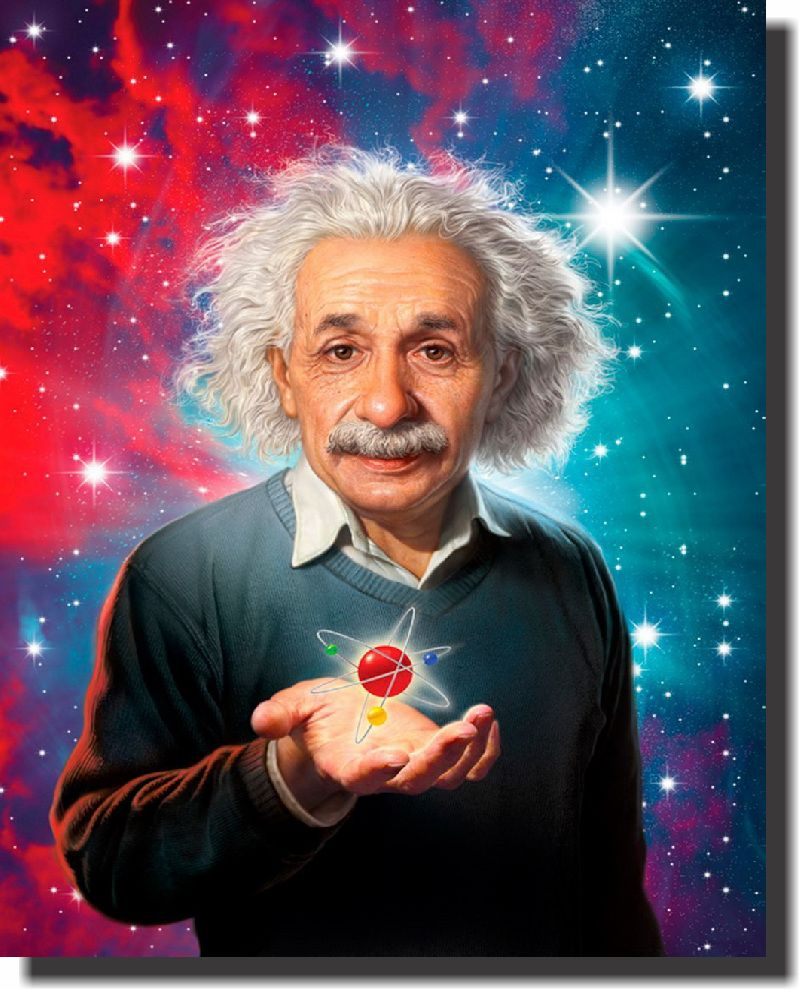 Quadro Decorativo Albert Einstein 1 peça