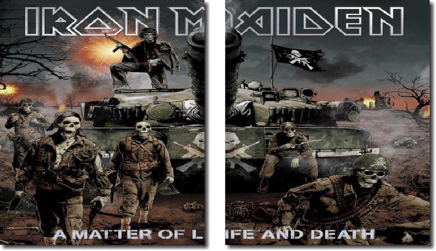 Quadro Decorativo Banda Iron Maiden 2 Peças