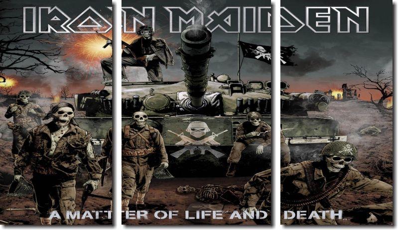 Quadro Decorativo Banda Iron Maiden 3 Peças