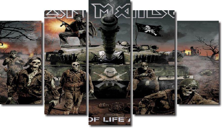 Quadro Decorativo Banda Iron Maiden 5 Peças