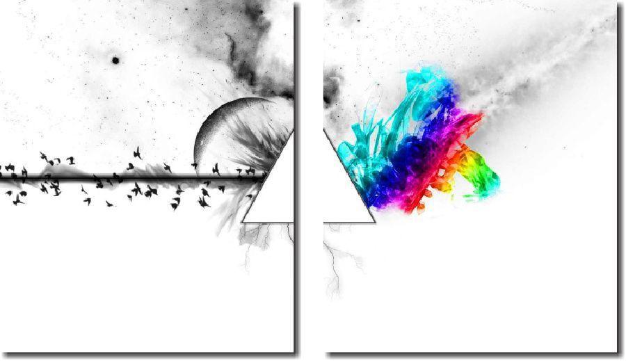 Quadro Decorativo Banda Pink Floyd 2 Peça M2