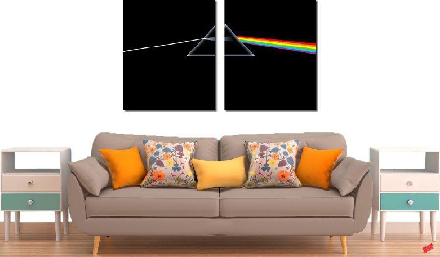 Quadro Decorativo Banda Pink Floyd 2 Peças