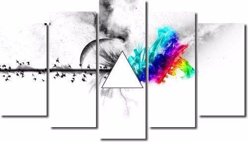 Quadro Decorativo Banda Pink Floyd 5 Peça M2
