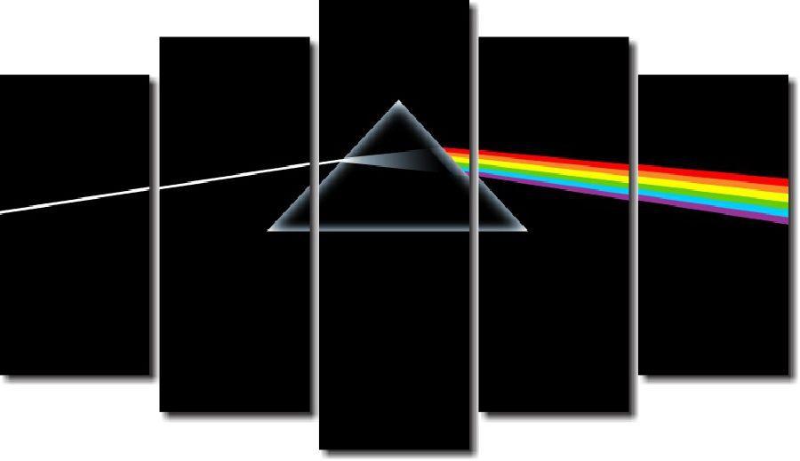 Quadro Decorativo Banda Pink Floyd 5 Peças