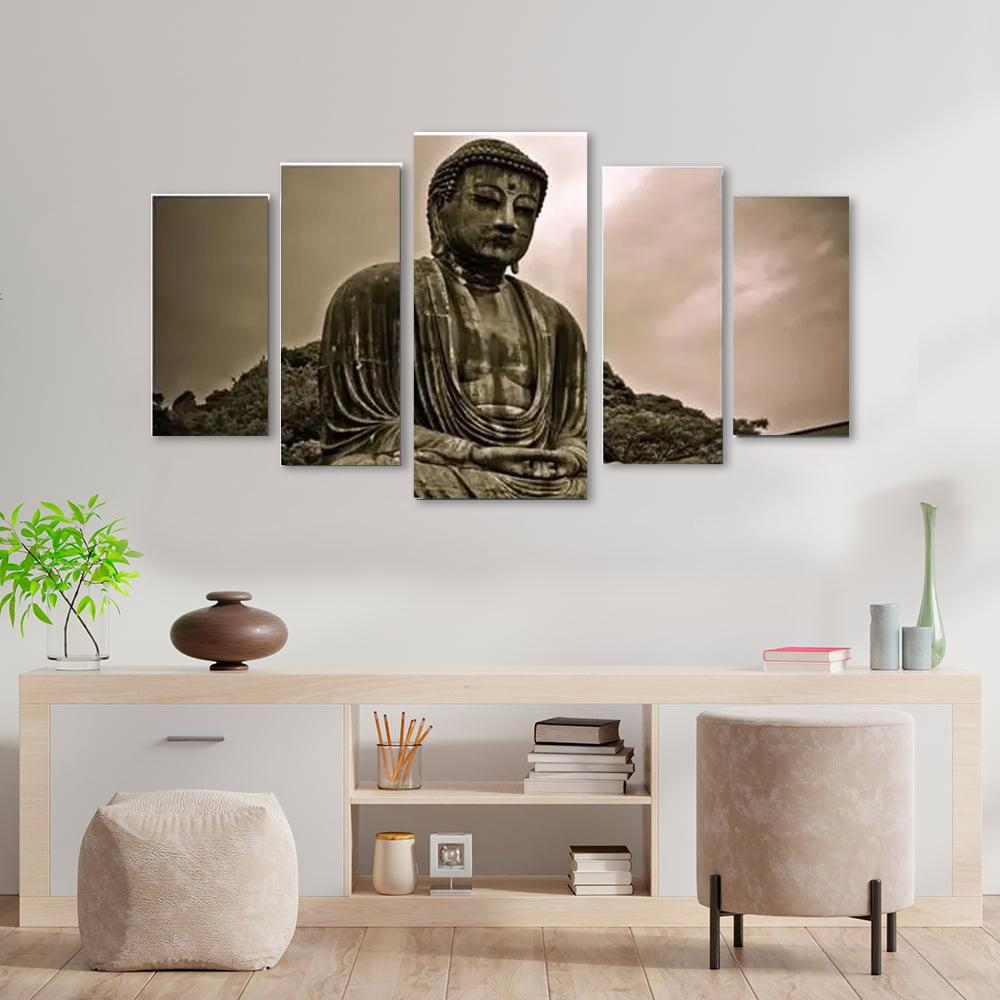 Quadro Decorativo Buda 5 Peças