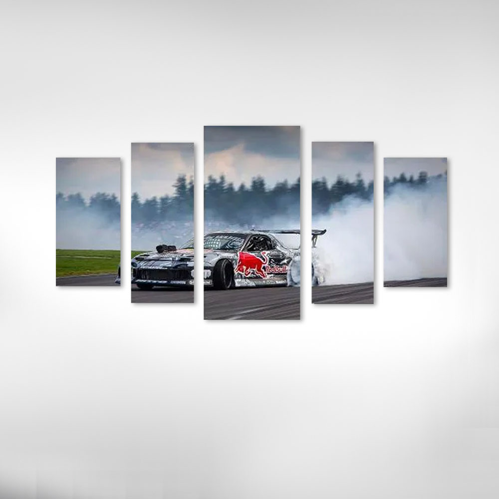 Quadro Decorativo Carro Drift Red Bull Para Sala E Quarto