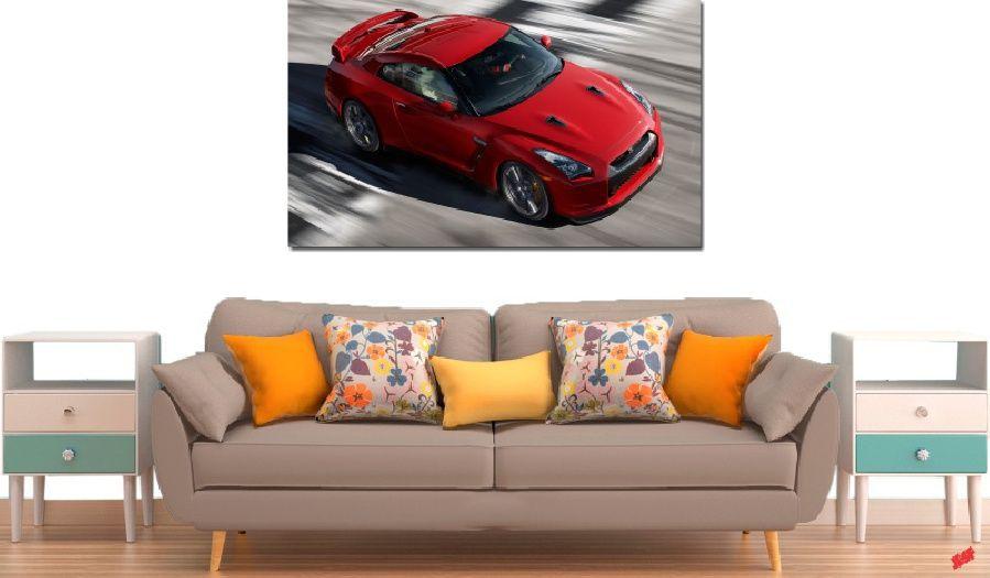 Quadro Decorativo Carro Vermelho 1 Peça