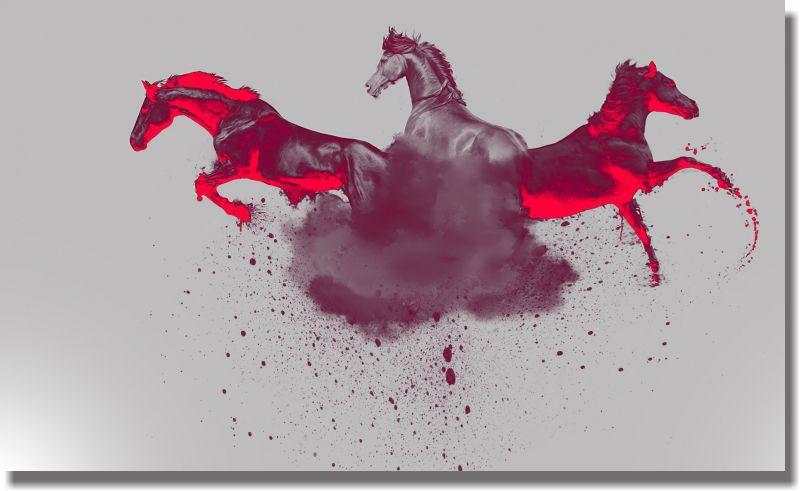Quadro Decorativo Cavalos para Sala 1 peça