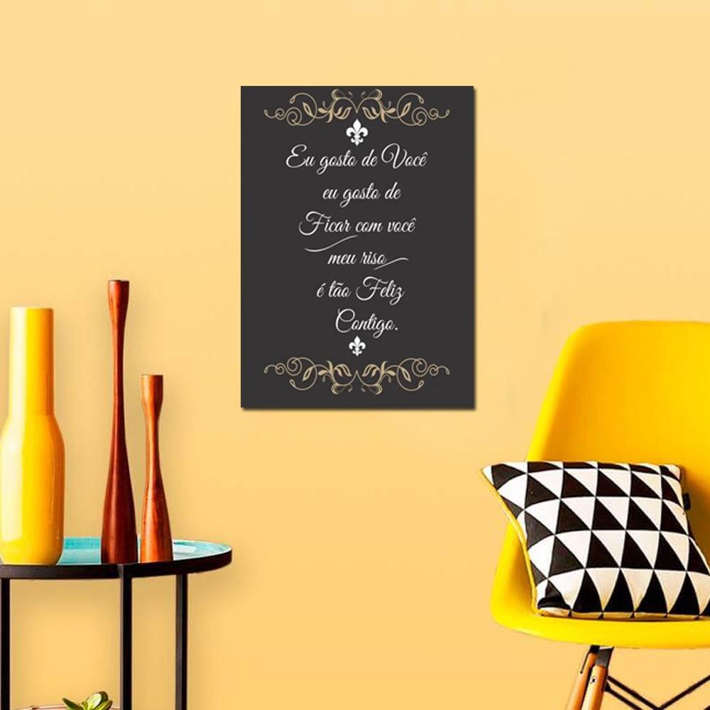 Quadro Decorativo Com Frases De Amor 1 Peça 20x30 M3