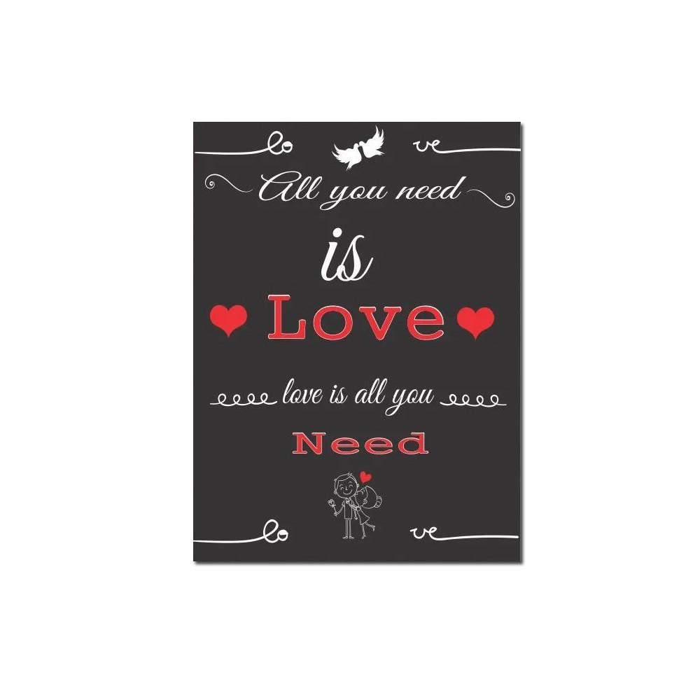Quadro Decorativo Com Frases De Amor 1 Peça 20x30 M4