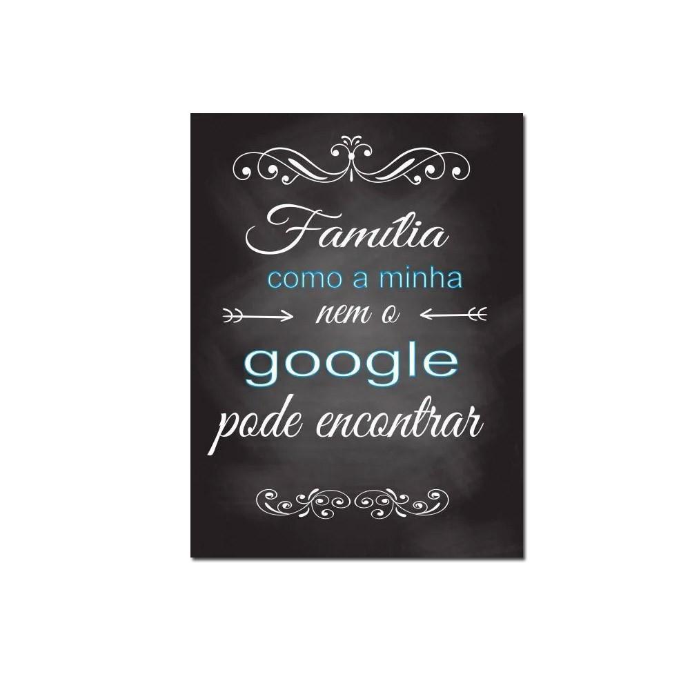 Quadro Decorativo Com Frases De Família 1 Peça 20x30