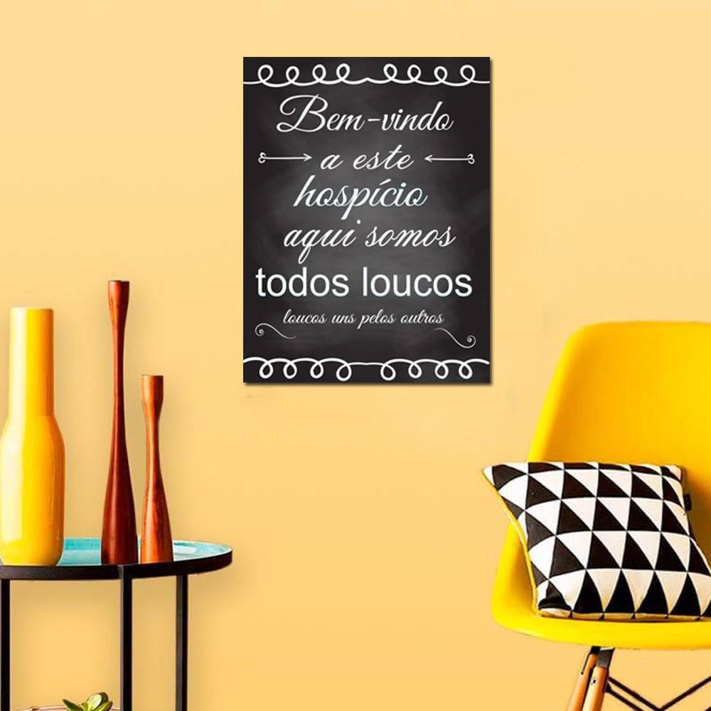Quadro Decorativo Com Frases Engraçada 1 Peça 20x30