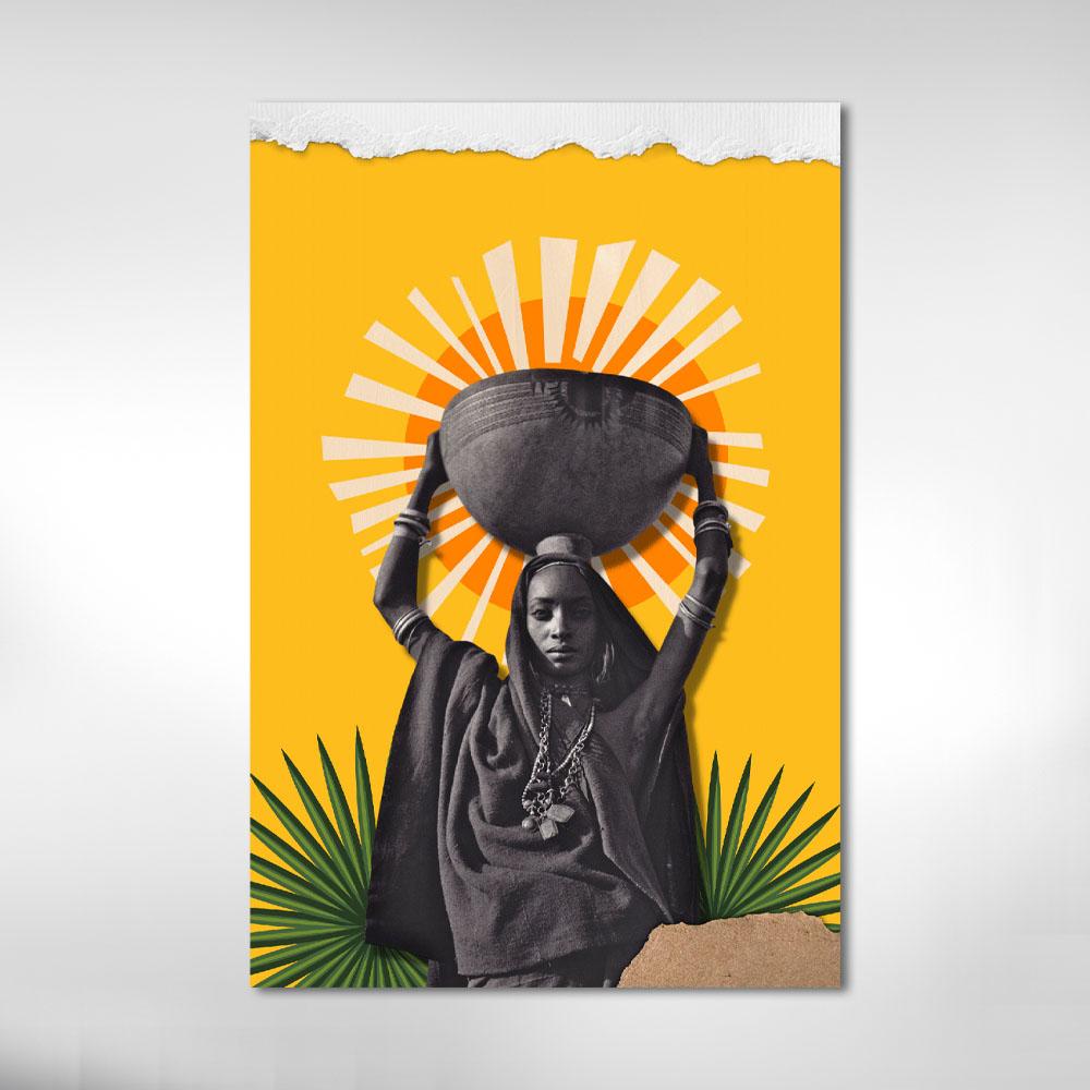 Quadro Decorativo Cultura Afro Negra Colorida M2