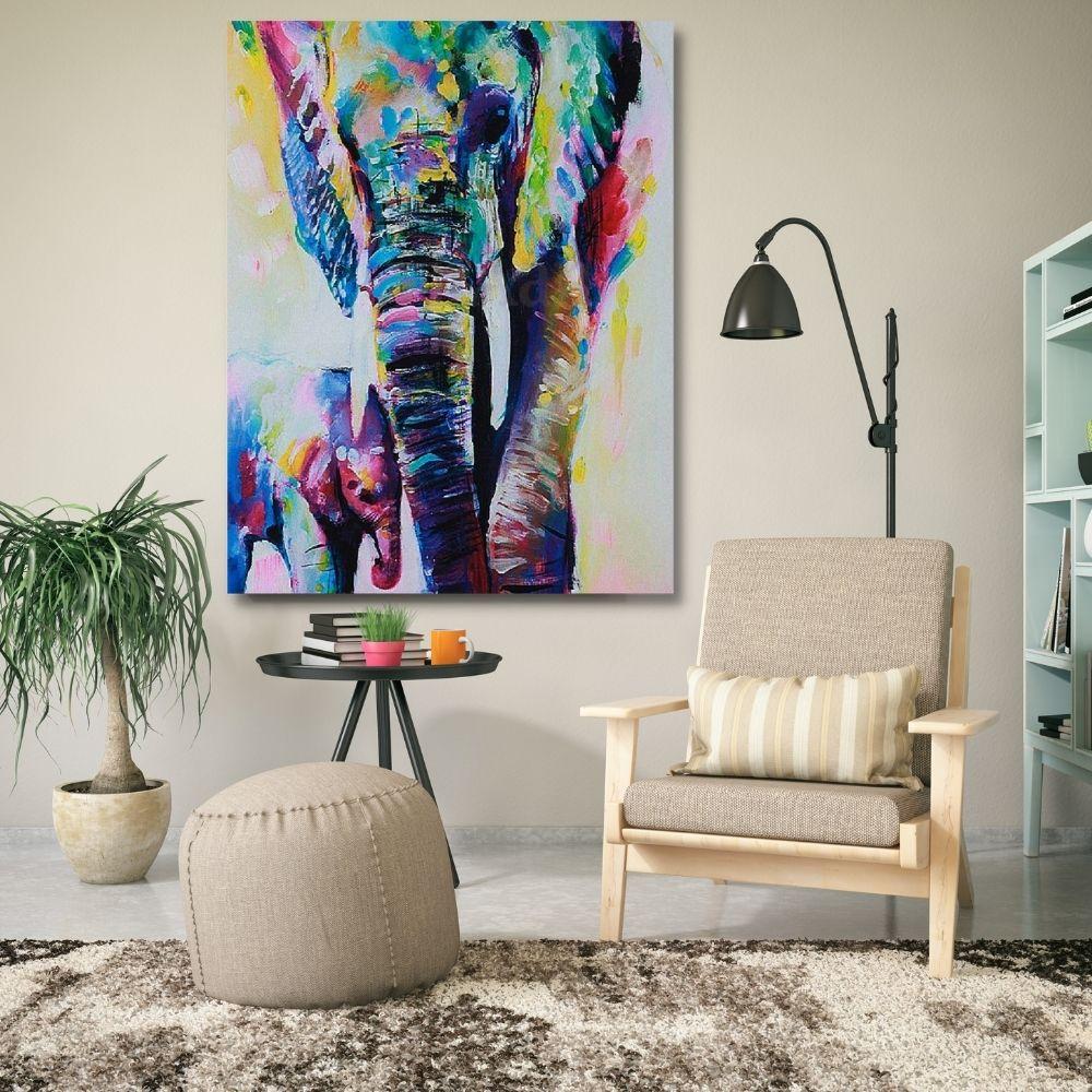 Quadro Decorativo de Animal Elefante