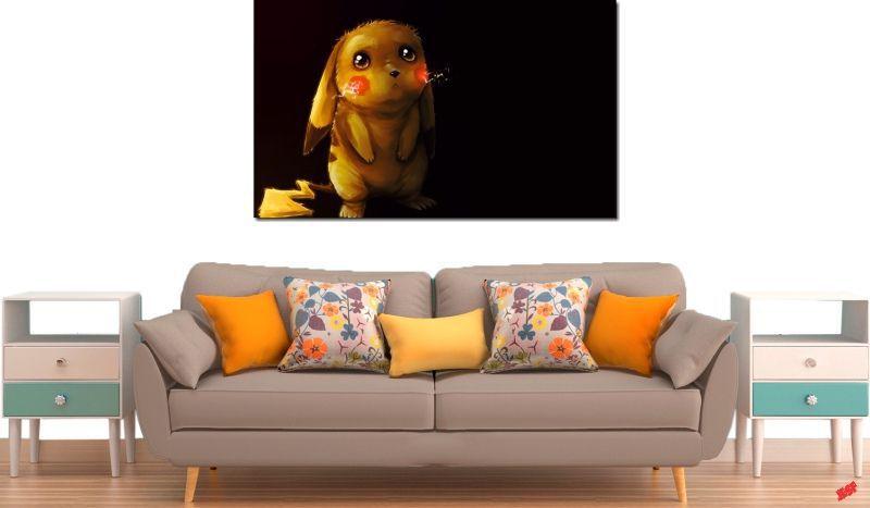 Quadro Decorativo Desenho Pikachu 1 Peça