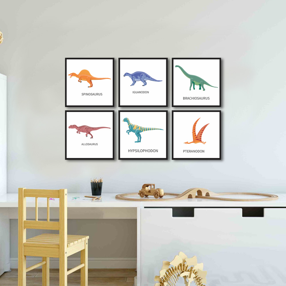 Quadro Decorativo Dinossauro Para Quarto Infantil