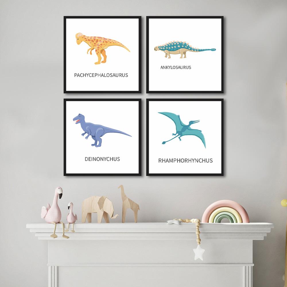 Quadro Decorativo Dinossauro Para Quartos E Salas