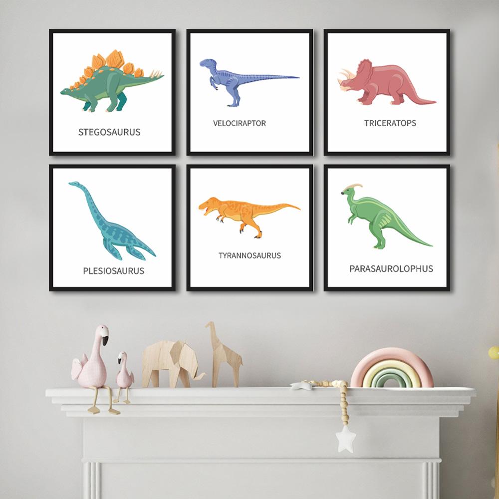 Quadro Decorativo Dinossauros Para Quarto Infantil