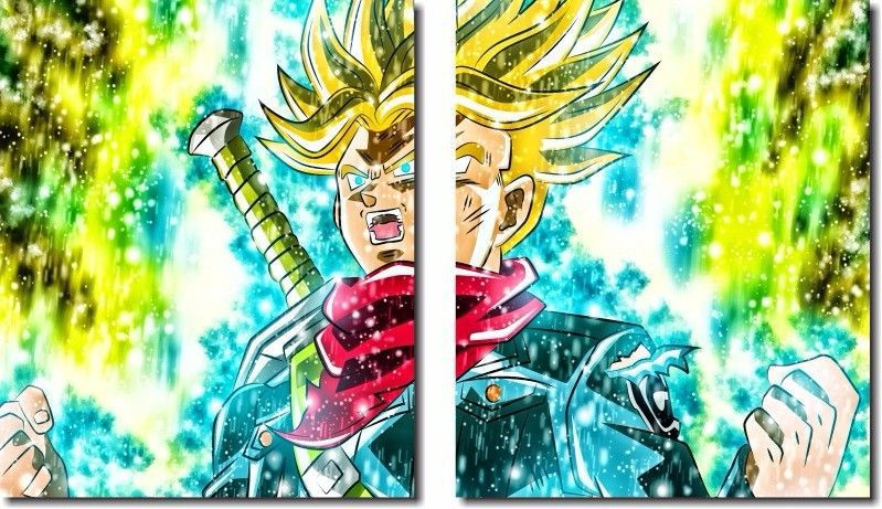 Quadro Decorativo Dragon Ball Goku Super Sayajin 2 Peça M21