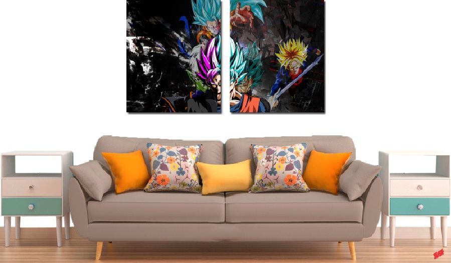 Quadro Decorativo Dragon Ball Goku Super Sayajin 2 Peça M22