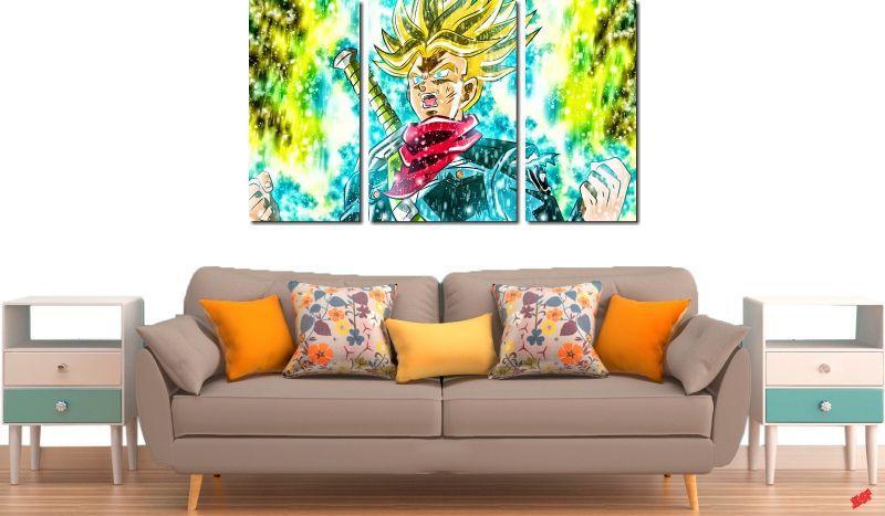 Quadro Decorativo Dragon Ball Goku Super Sayajin 3 Peça M21