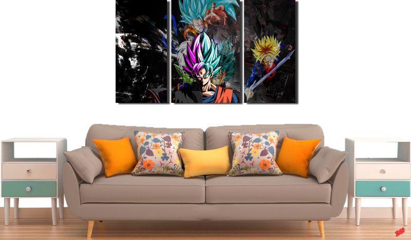 Quadro Decorativo Dragon Ball Goku Super Sayajin 3 Peça M22