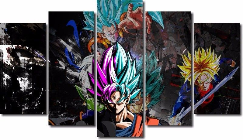 Quadro Decorativo Dragon Ball Goku Super Sayajin 5 Peça M22