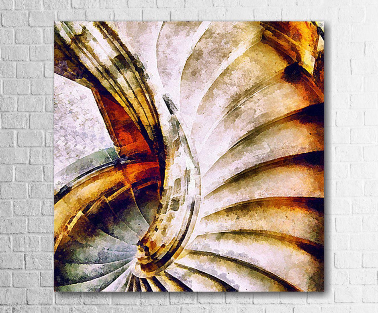 Quadro Decorativo Escada Estilo Pintura 1 peça
