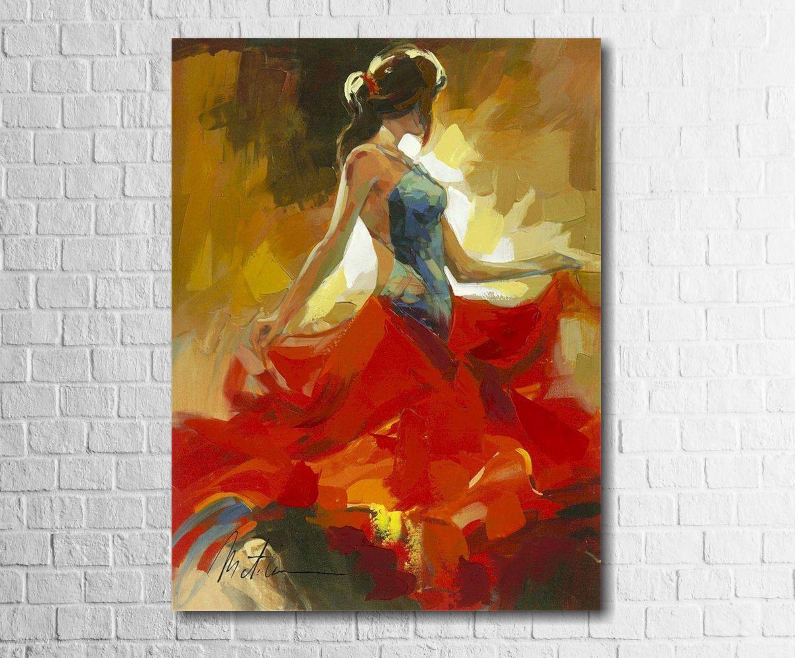 Quadro Decorativo Estilo Pintura Dançarina 1 peça