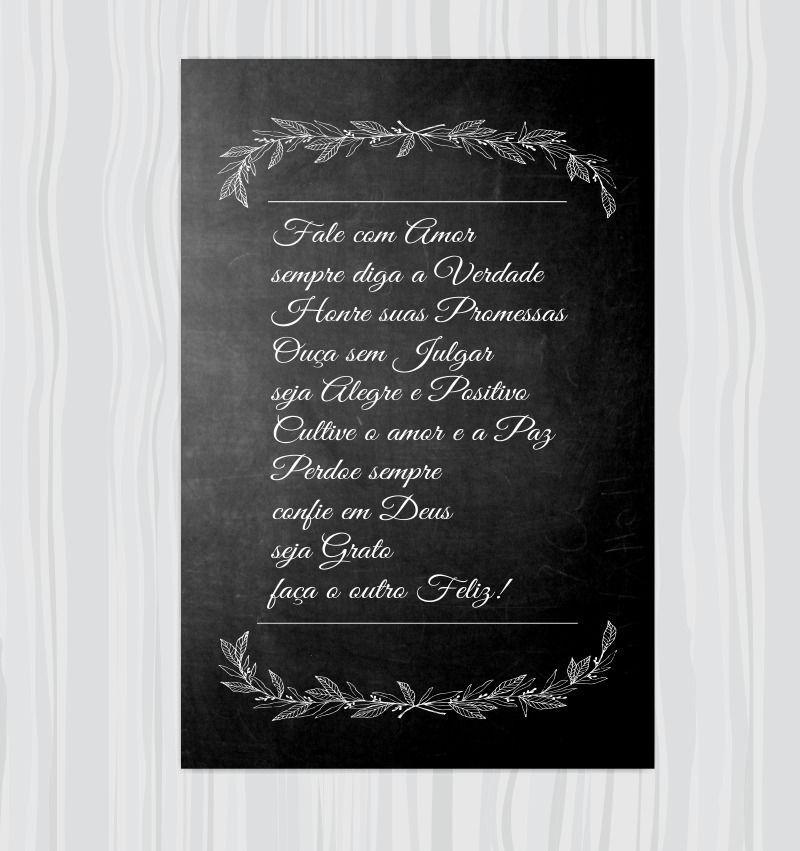 Quadro Decorativo Frases Motivacionais 1 Peça 20x30 M2