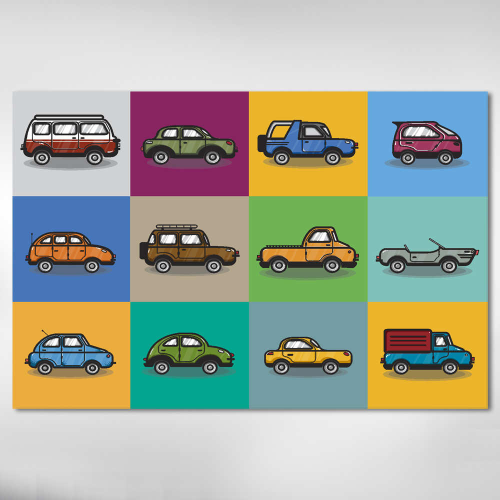 Quadro Decorativo Infantil Carros