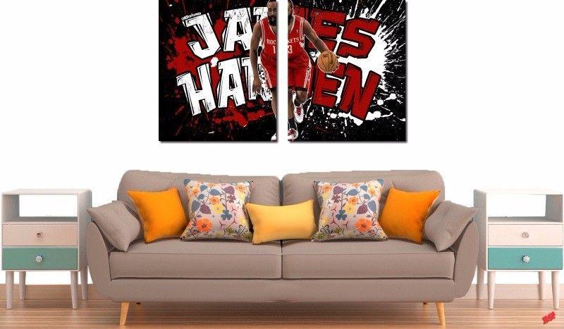 Quadro Decorativo Jogador James Harden 2 Peças