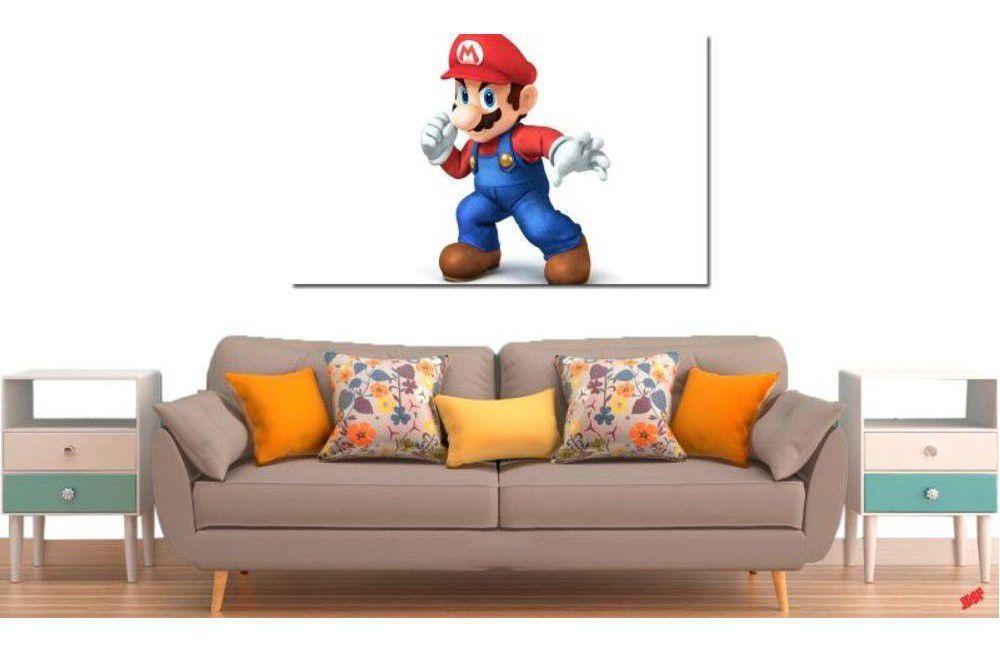 Quadro Decorativo Jogo Super Mario 2 Peças M3