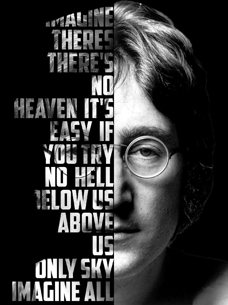 Quadro Decorativo John Lennon para quarto e sala 1 peça