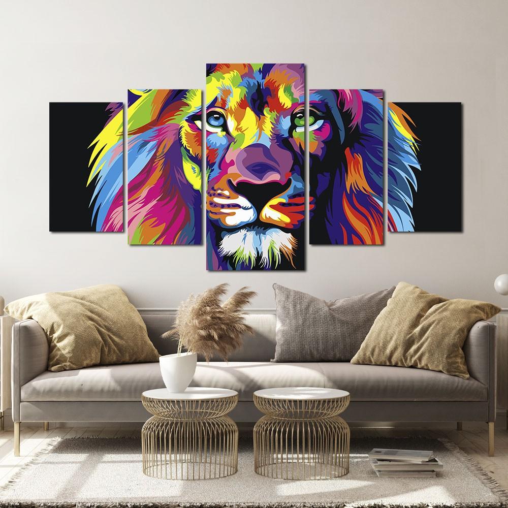 Quadro Decorativo Leão de judá  160x80