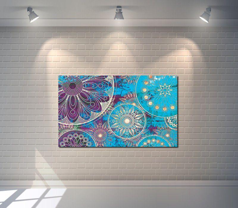 Quadro Decorativo Mandala Moderna Azul