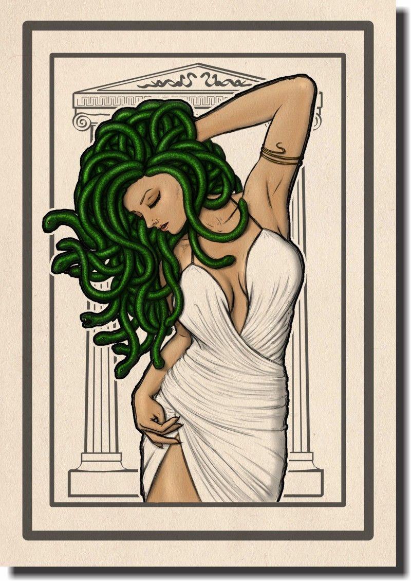 Quadro Decorativo Medusa 1 peça