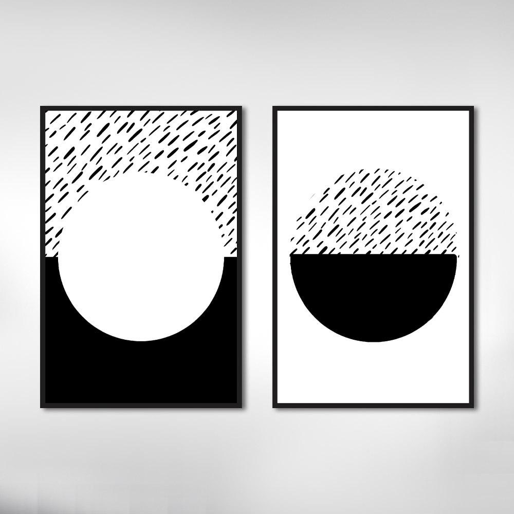 Quadro Decorativo Minimalista Preto e Branco