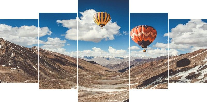 Quadro Decorativo Moutains e Balloons