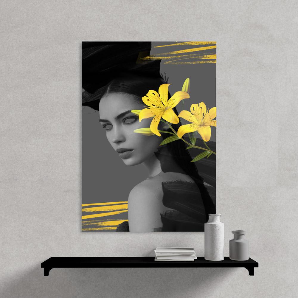 Quadro Decorativo  Mulher Abstrata Florida