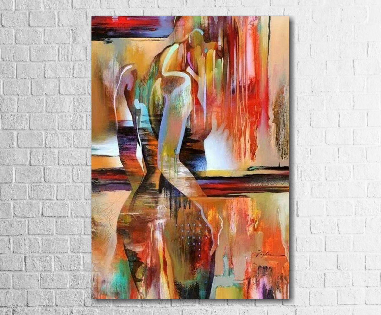 Quadro Decorativo Nu Artístico Colorido 1 peça