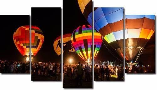Quadro Decorativo Paisagem Balão 5 Peças