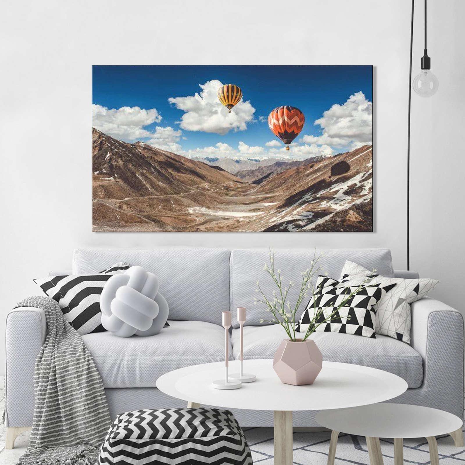 Quadro Decorativo Paisagem Balão com Montanhas 1 peças