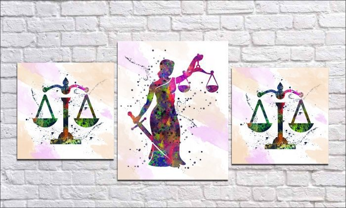 Quadro decorativo Para Escritório Deus da justiça