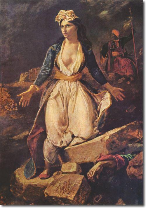 Quadro Decorativo Para sala Eugène Delacroix