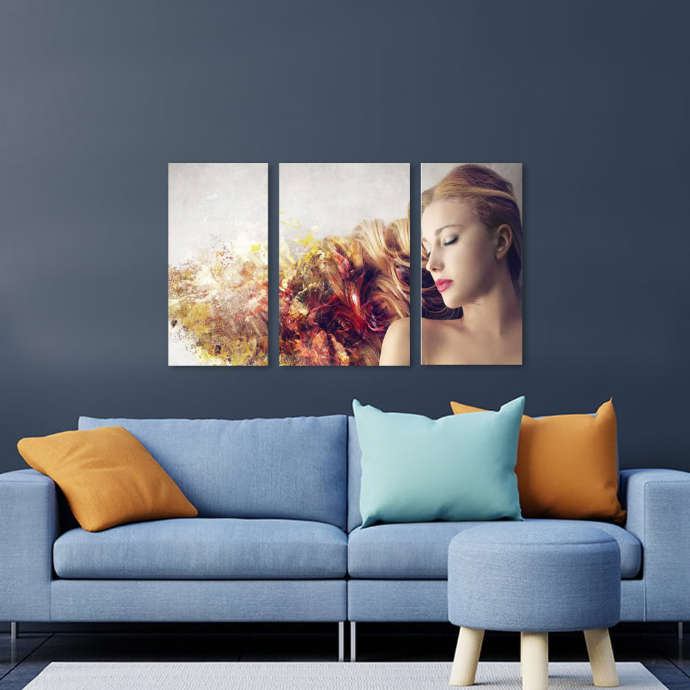 Quadro Decorativo Para Salão De Beleza 3 Peça m3