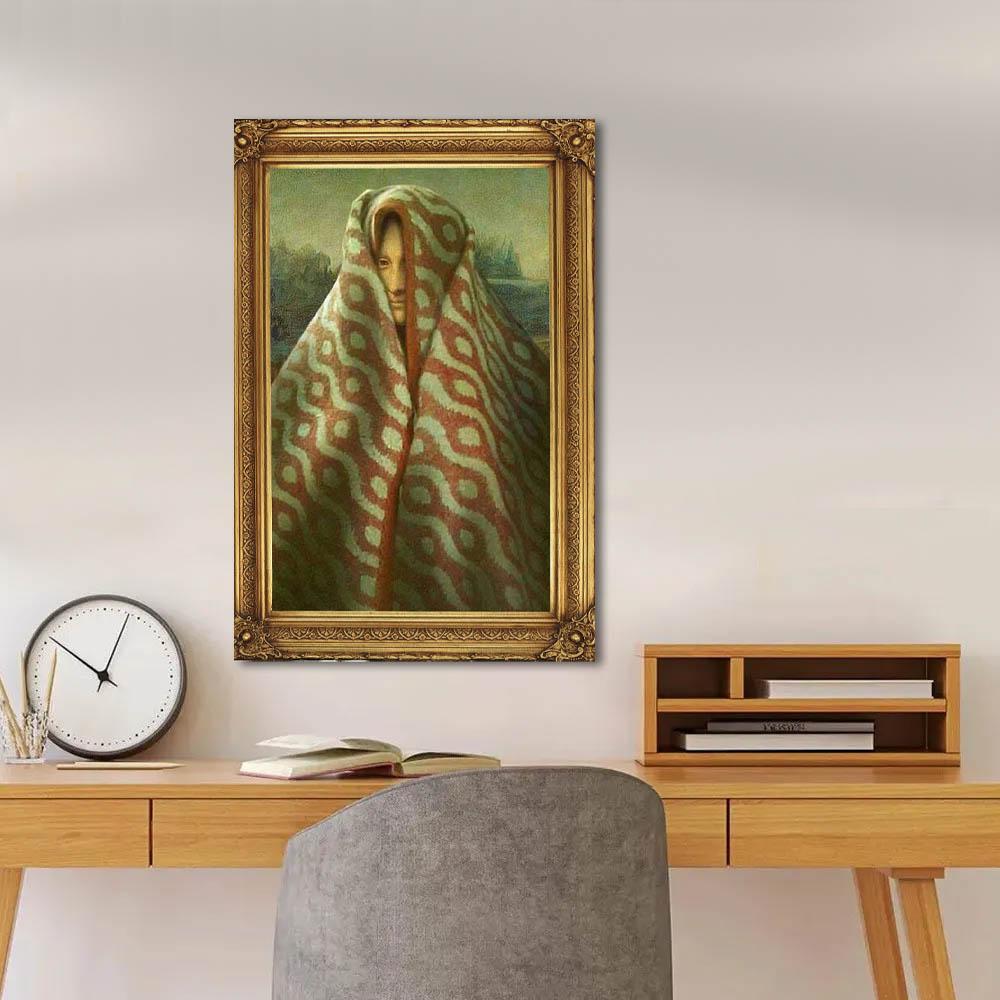 Quadro Decorativo Pintura Famosa Monalisa