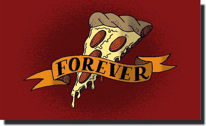 Quadro Decorativo Pizza Forever 1 peça