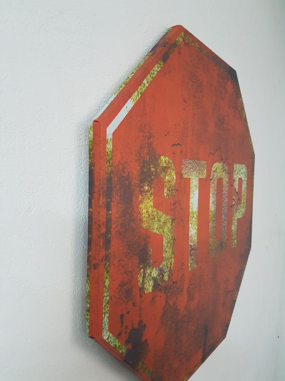 Quadro Decorativo Placa STOP