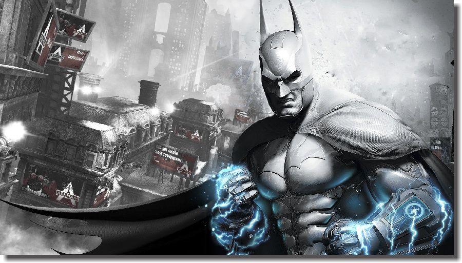 Quadro Decorativo Quarto Batman 60x100 Criança